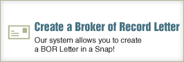 Create a Broker of Record Letter
