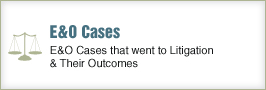 E&O Cases