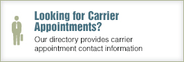 Looking for Carrier Appointments